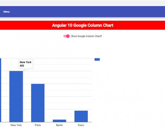 Angular 10 Google Column Chart Working Example