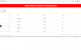 Angular Material Datepicker Working Tutorial