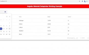 Angular Material Datepicker Working Tutorial