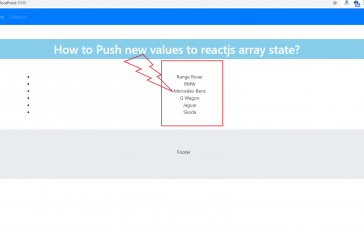 How to Push new values to reactjs array state?