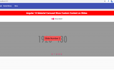 How to display text over angular material carousel slider?