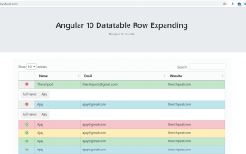 How to expand datatable row in angular 10?