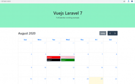 How to implement fullcalendar in vuejs laravel7?