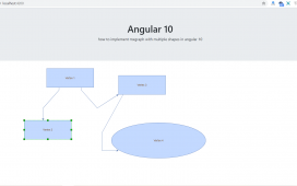 How to implement mxgraph with multiple shapes in angular 10?