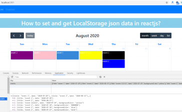 How to set and get LocalStorage json data in reactjs?