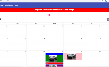 How to show event image in fullcalendar in angular 10?