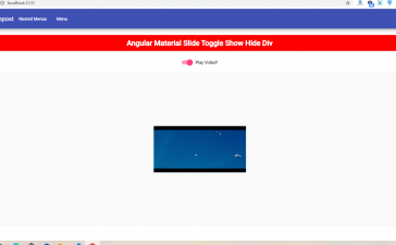 How to show hide div with angular material slide toggle?
