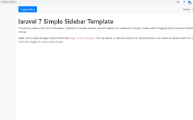 Laravel 7 Simple Sidebar Responsive Template