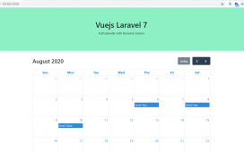 Vuejs Laravel 7 FullCalendar with Dynamic Events