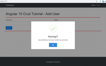 Angular 10 Crud Tutorial - Add User