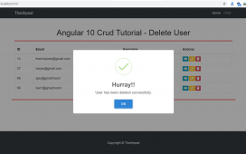 Angular 10 Crud Tutorial - Delete User