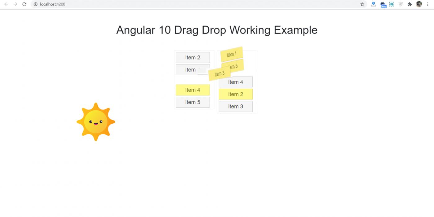 Angular 10 Drag Drop Working Example
