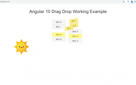 Angular 10 Drag Drop Working Example
