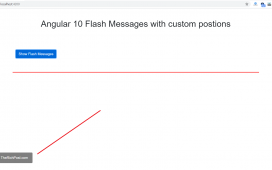 Angular 10 Flash Message with Customization