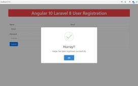 Angular 10 Laravel 8 User Registration Working Demo