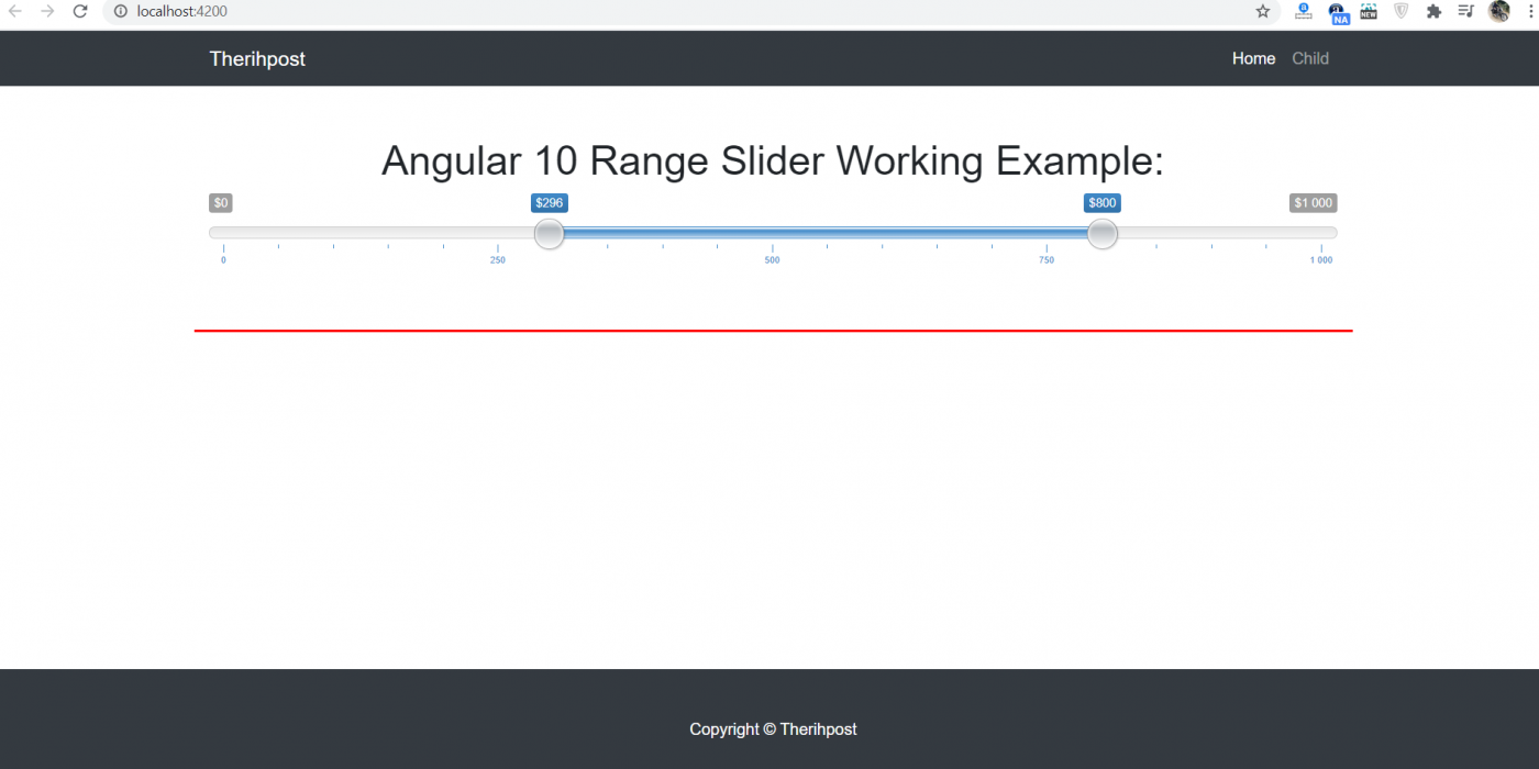 Angular 10 Range Slider Working Tutorial