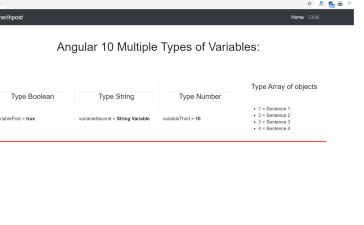 Angular 10 multiple types of variables