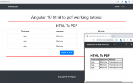 How to convert html into pdf in angular 10?
