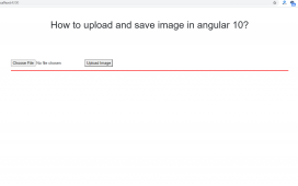 How to upload and save image in angular 10?