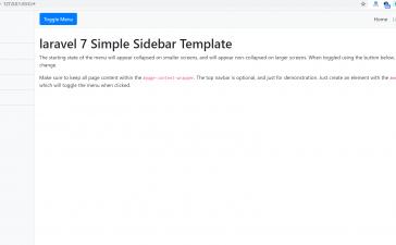 Laravel 8 Simple Sidebar Responsive Template