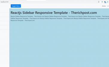 Reactjs Responsive Sidebar Template Free