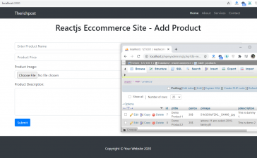 Reactjs Ecommerce Site - Add Product