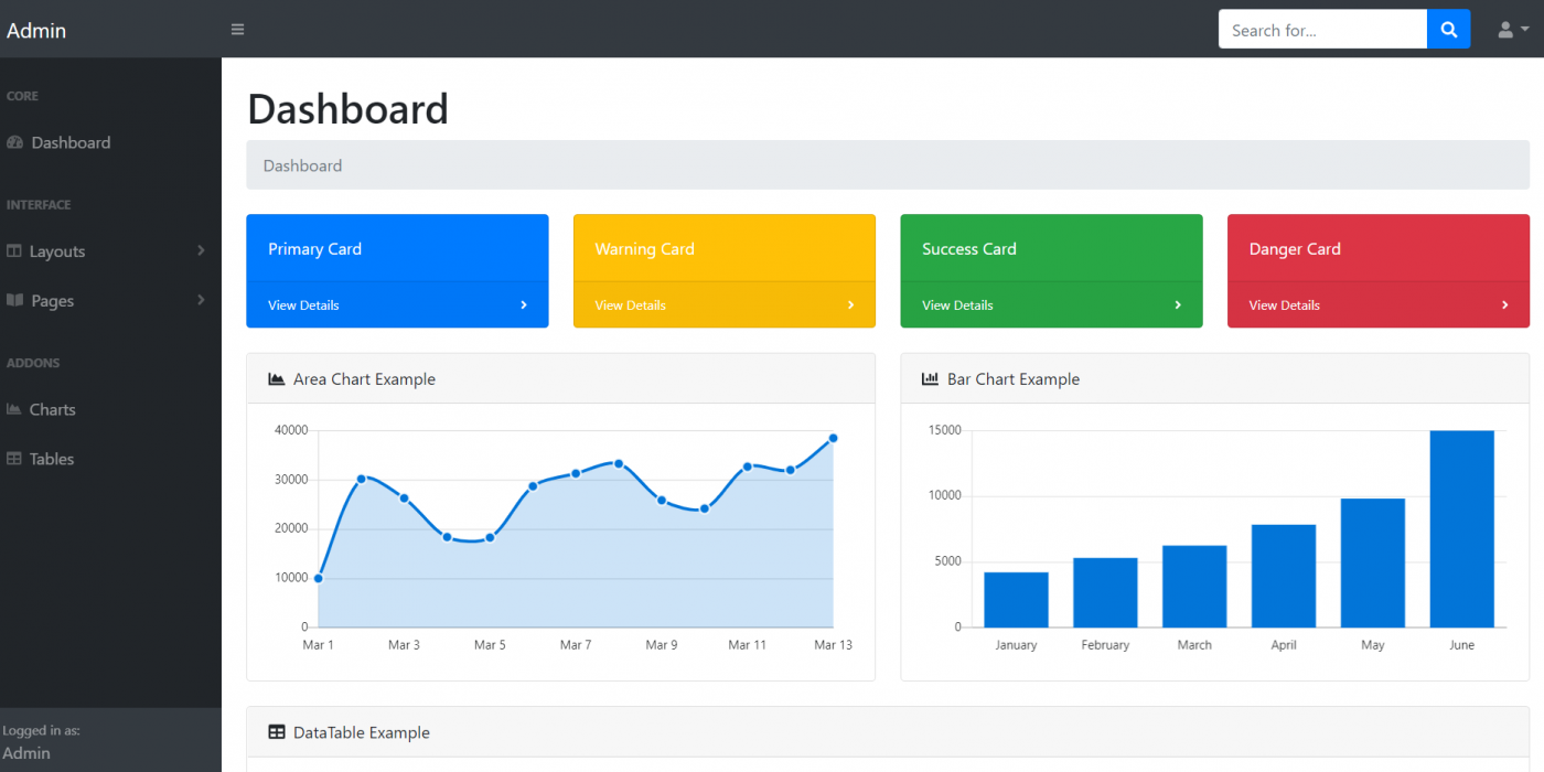 Angular 10 Bootstrap 4 Admin Dashboard Template with Source Code