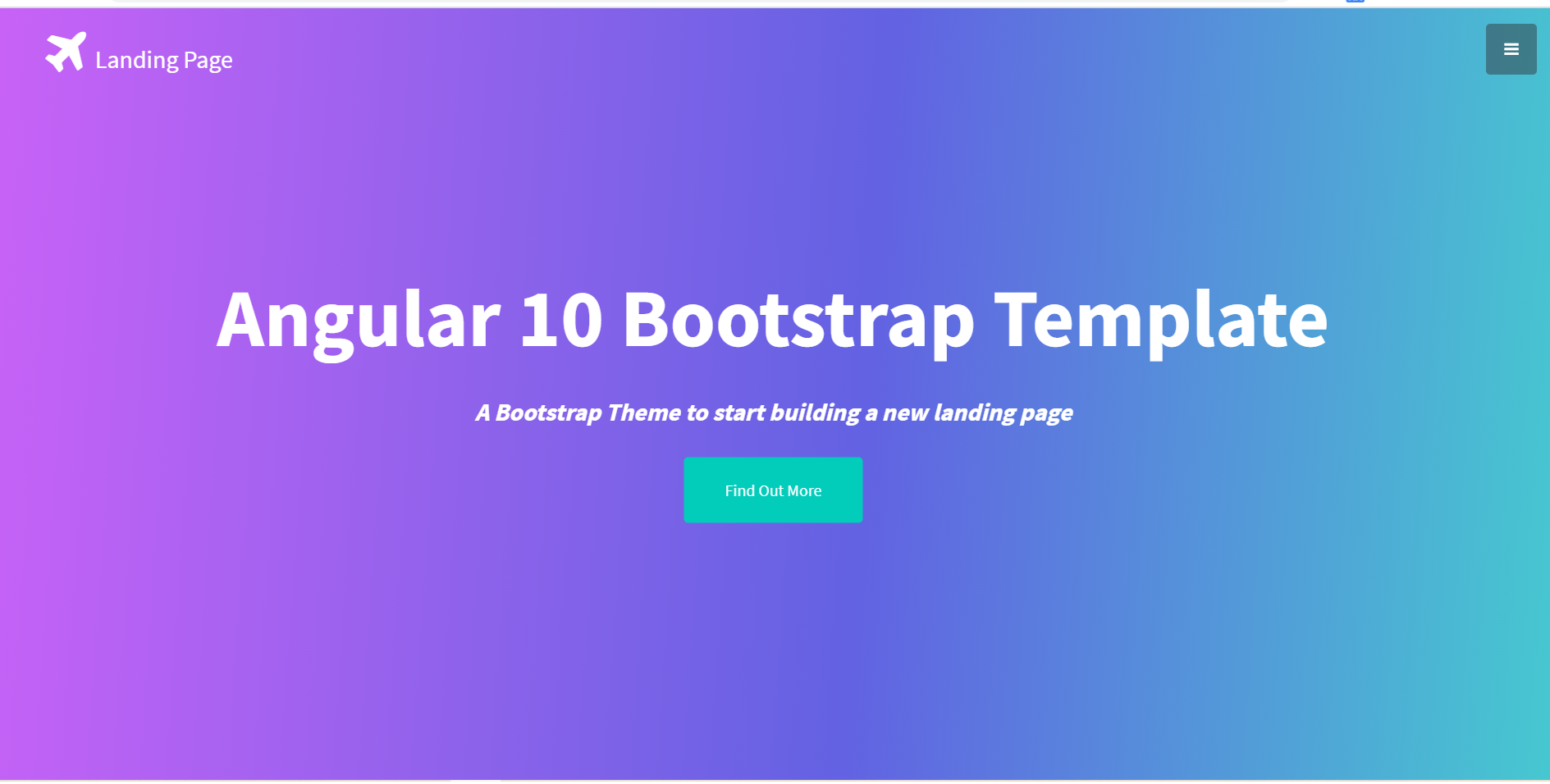 Angular 10 Bootstrap Landing Page Template Free