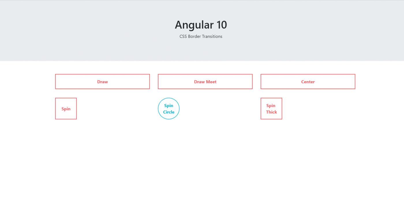 Angular 10 CSS Border Transitions Working Tutorial