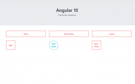 Angular 10 CSS Border Transitions Working Tutorial