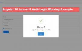 Angular 10 Laravel 8 Auth User Login Tutorial