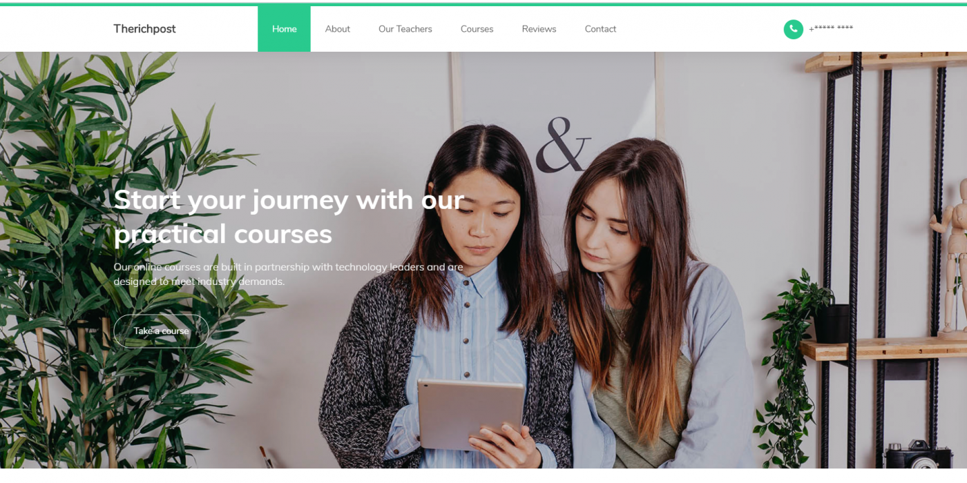Reactjs Learning Education Center Free Template