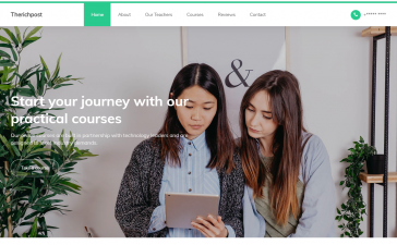 Angular 10 Learning Education Center Free Template