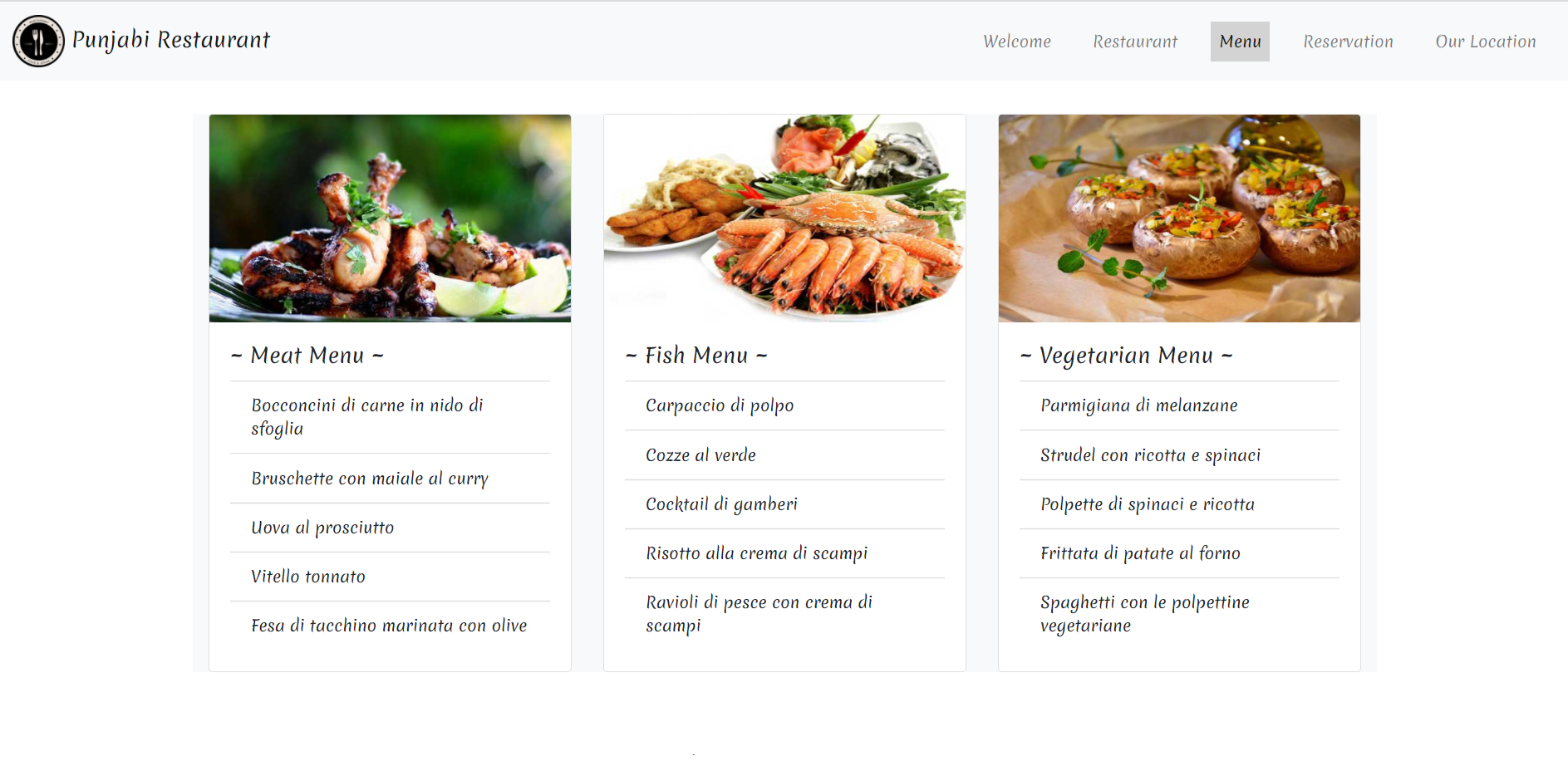 Angular 10 Restaurant Free Template