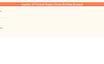 Angular 10 Vertical Stepper Form Working Tutorial