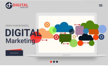 Angular 10 digital marketing responsive template
