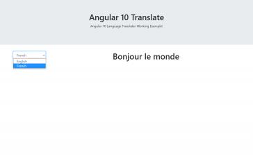 Angular 10 language translator working tutorial
