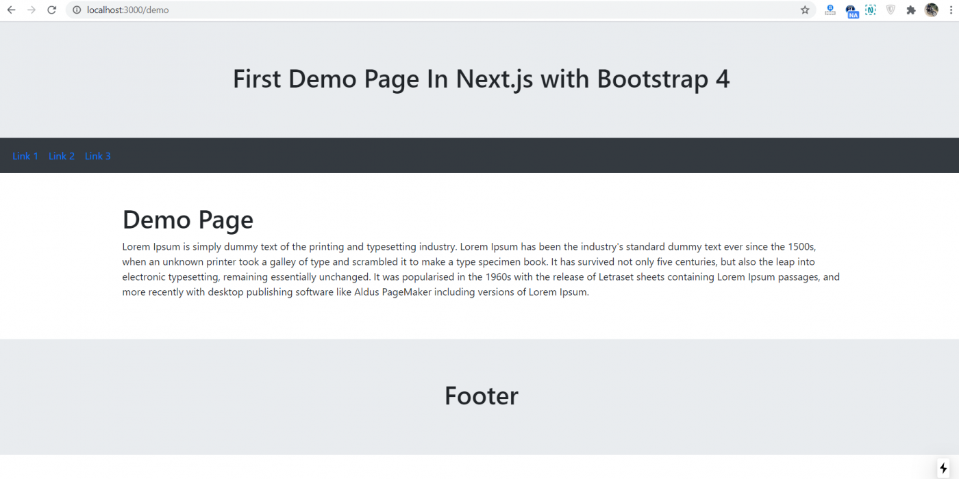 Create your first page in Next.js and Reactjs