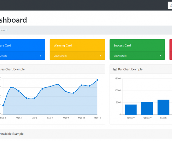 Reactjs Bootstrap 4 Admin Dashboard Template with Source Code