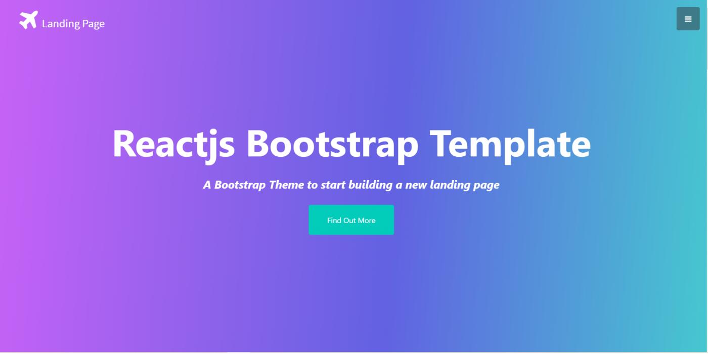 Reactjs Bootstrap Landing Page Template Free
