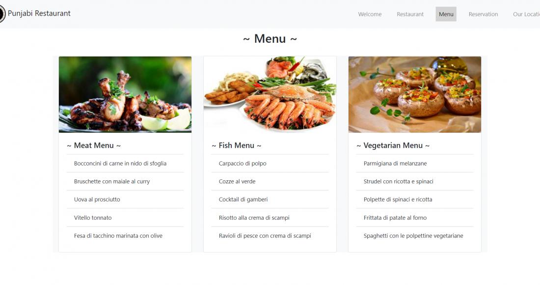 Reactjs Restaurant Template Free