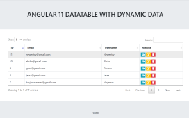 Angular 11 Datatable with Dynamic Data