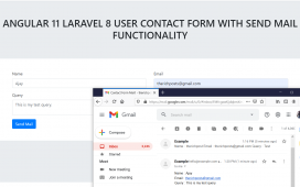 Angular 11 Laravel 8 User Contact Form with Send Email Functionality
