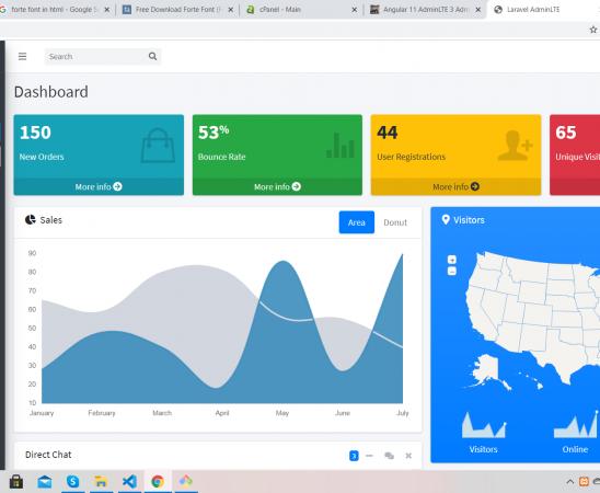 Laravel 8 AdminLTE 3 Admin Dashboard Working with Source Code