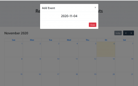Reactjs FullCalendar Add Events Demo Part 1 with Source Code