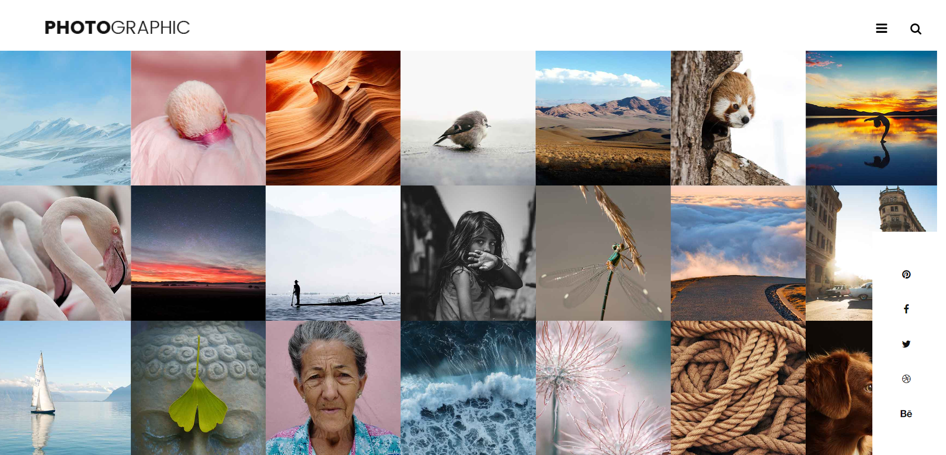 Reactjs PhotoGraphic Free Template Working Demo