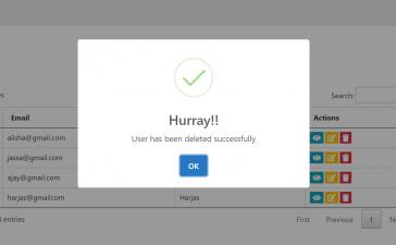 Angular 11 Crud Tutorial with Service - Delete User