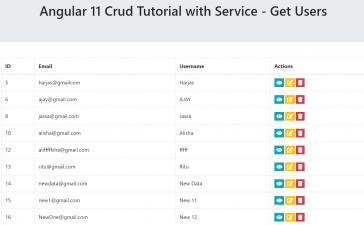 Angular 11 Crud Tutorial with Service - Get Users