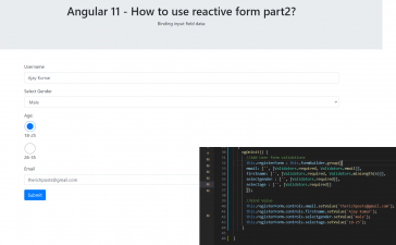 Angular 11 - How to use reactive form part 2 ? Binding Data