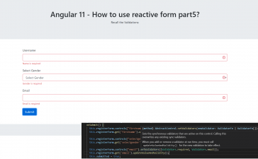 Angular 11 - How to use reactive form part5? Recall Form Validation
